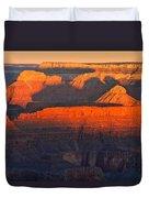 Mather Point Sunrise Grand Canyon National Park Duvet Cover