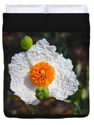 Matilija Poppy Buds And Bloom Duvet Cover