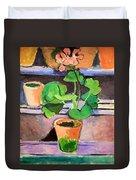 Matisse's Pot Of Geraniums Duvet Cover