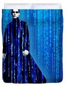Matrix Neo Keanu Reeves Duvet Cover by Tony Rubino