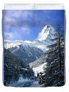 Matterhorn  Duvet Cover by Brian Jannsen