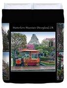 Matterhorn Mountain Disneyland Collage Duvet Cover