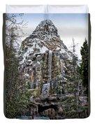 Matterhorn Mountain With Bobsleds At Disneyland Duvet Cover