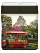 Matterhorn Mountain With Hot Popcorn At Disneyland 01 Duvet Cover