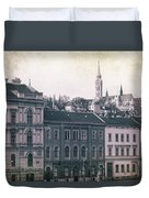 Matthias Church And Vizivaros Duvet Cover