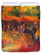 Maturing Sun, Paris Oil On Canvas Duvet Cover