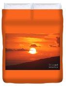 Maui Kulamalu Sunset 3 Duvet Cover