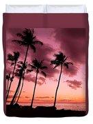 Maui Silhouette Sunset Duvet Cover