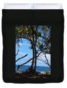 Maui Tree Silhouette Duvet Cover