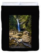 Maui Waterfall Duvet Cover by Adam Romanowicz