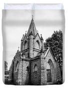 Mausoleum New England Black And White Duvet Cover