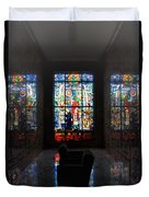 Mausoleum Stained Glass 07 Duvet Cover