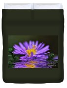 Mauve Softness And Reflections Duvet Cover by Kaye Menner