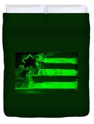 Max Stars And Stripes In Green Duvet Cover