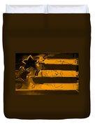 Max Stars And Stripes In Orange Duvet Cover