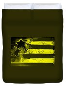 Max Stars And Stripes In Yellow Duvet Cover