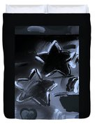 Max Two Stars In Cyan Duvet Cover