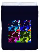 Max Two Stars In Pf Quad Colors Duvet Cover