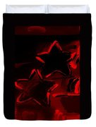 Max Two Stars In Red Duvet Cover