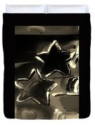 Max Two Stars In Sepia Duvet Cover