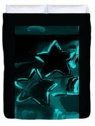 Max Two Stars In Turquois Duvet Cover