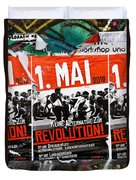 May Day 2012 Poster Calling For Revolution Duvet Cover