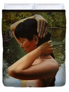 May Morning Arkansas River 3 Duvet Cover