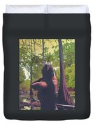 May Morning Arkansas River 5 Duvet Cover by Thu Nguyen