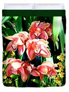 Joy Orchids Duvet Cover