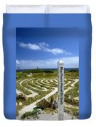 May Peace Prevail On Earth Peace Labyrinth Aruba Duvet Cover