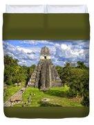 Mayan Temple At Tikal Duvet Cover