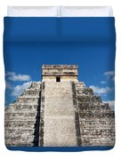 Mayan Temple Pyramid At Chichen Itza Duvet Cover