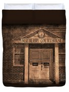 Mayberry Courthouse Duvet Cover