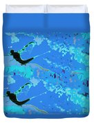 Mayfly Abstract Blue Duvet Cover