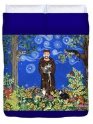 May's St. Francis Duvet Cover by Sue Betanzos