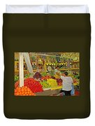 Mazatlan Centro Market-sinaloa Duvet Cover