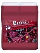 Mc Cormick Farmall Super C Duvet Cover by Susan Candelario