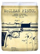 Mcclean Pistol Drawing From 1903 - Vintage Duvet Cover