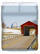 Mccolly Covered Bridge Duvet Cover