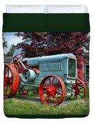 Mccormick Deering Red-wheeled Tractor Duvet Cover