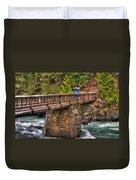 Mcdonald Creek Bridge Duvet Cover