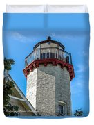 Mcgulpin Point Lighthouse Michigan Duvet Cover