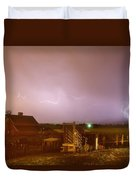 Mcintosh Farm Lightning Thunderstorm View Duvet Cover