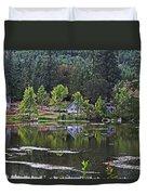 Mcintosh Lake In Washington Duvet Cover