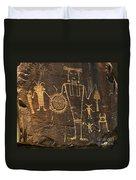 Mckee Ranch Petroglyphs Duvet Cover
