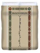 Mcloughlin Written In Ogham Duvet Cover