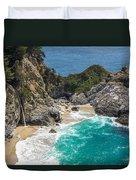 Mcway Falls Big Sur Duvet Cover by Priya Ghose