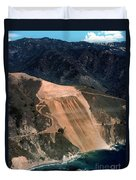 Aerial Of Mcway Landslide Big Sur California 1984 Duvet Cover