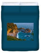 Mcway Waterfall. Big Sur Duvet Cover