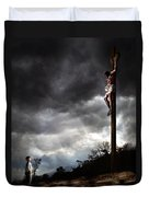Me And Jesus Duvet Cover by Mark Spears